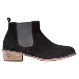 Goodin Kožne Jodhpur čizme crna