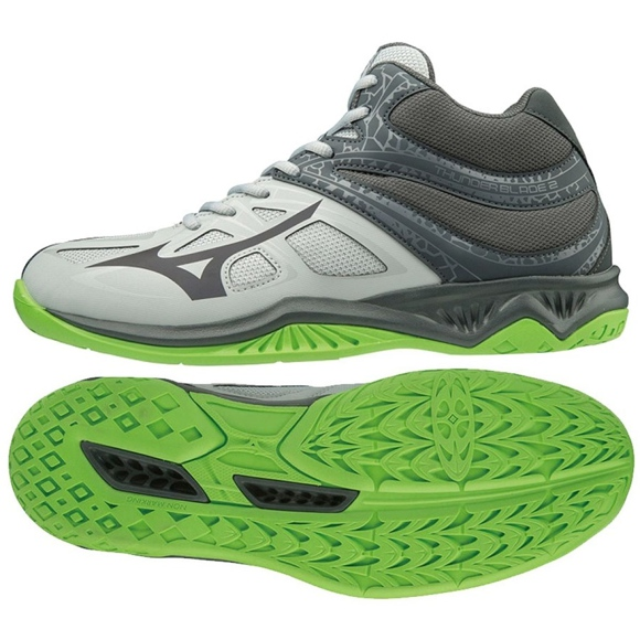 Mizuno Thunder Blade 2 Mid M V1GA197537 cipele siva siva / srebrna