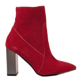 Goodin Seksi kožne čizme crvena