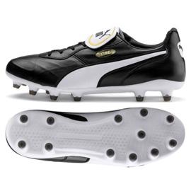 Puma King Top Fg M 105607 01 nogometne cipele crna crna