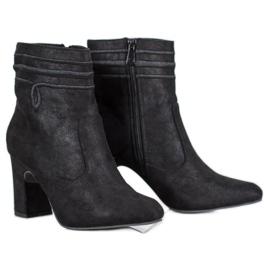 Kylie Suede visoke potpetice crna
