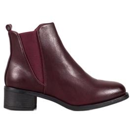 Ideal Shoes Klasične čizme s elastičnim trakom crvena