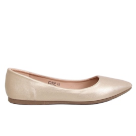 Ballerinas badem toe gold CD52P Gold žuti