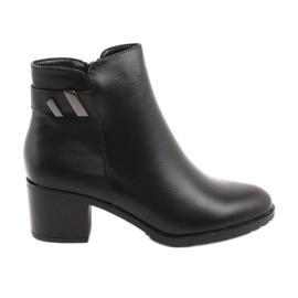 Izolirane čizme s patentnim zatvaračem Daszyński SA153 crne crna