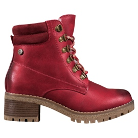 Goodin Crvene čizme s ovčjom kožom crvena
