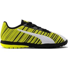 Puma One 5.4 Tt Jr 105662 03 nogometne cipele bijela, crna, žuta žuti