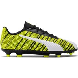 Puma One 5.4 Fg Ag Jr 105660 03 nogometne cipele bijela, crna, žuta žuti