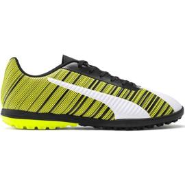 Puma One 5.4 Tt M 105653 03 nogometne cipele bijela, crna, žuta žuti