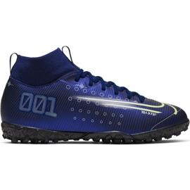Nike Mercurial Superfly 7 Academy Mds Tf Jr BQ5407 401 nogometne cipele mornarica tamnoplav