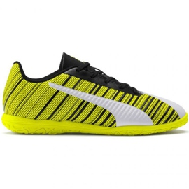 Puma One 5.4 It Jr 105664 04 nogometne čizme bijela, crna, žuta žuti