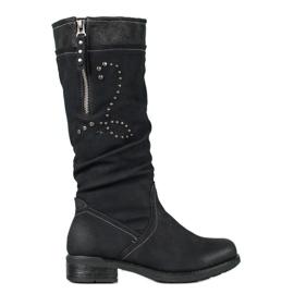 SHELOVET Ravne čizme crna