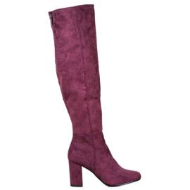 Goodin Suede čizme purpurna boja