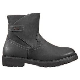 Sergio Leone Udobne crne čizme za gležnjeve crna