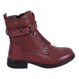 J. Star Burgundske čizme s elastičnim trakom crvena