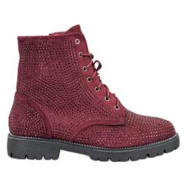 Sweet Shoes Burgundski suede čizme crvena