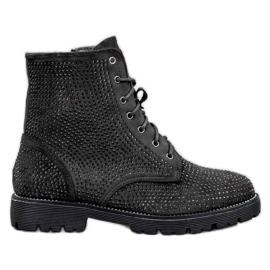 Sweet Shoes Crne antilop čizme crna