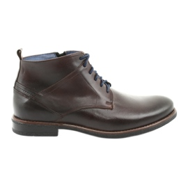 Nikopol 702 kožne cipele s patentnim zatvaračem smeđ