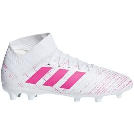 Nogometne cipele Adidas Nemeziz 18,3 Fg Jr CM8506 bijela, ružičasta