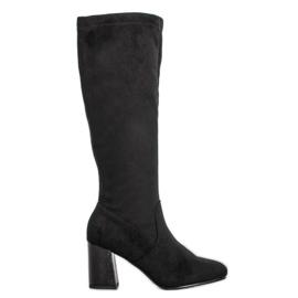 Filippo Elegantne čizme od suknje crna