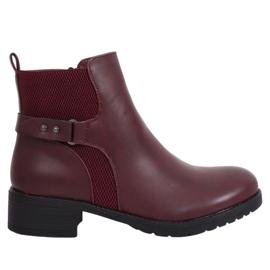 Čizme Jodhpur čizme bordo 1089 Winred crvena