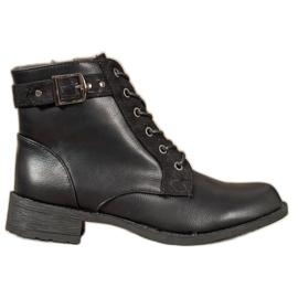 Small Swan Klasične čipkaste čizme crna