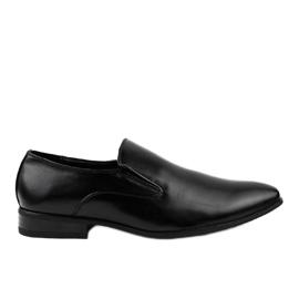 Crne elegantne natikače 6-317 crna