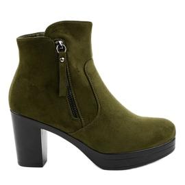 Zeleni antilop 8B882 visoke potpetice zelena