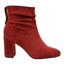 Burgundski elegantne čizme na postu 884 crvena