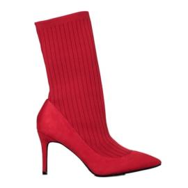 SHELOVET Čizme za gležnjeve crvena