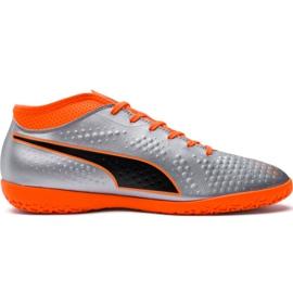 M Puma One 4 Syn It 104750 01 nogometne čizme srebro narančasta, siva / srebrna