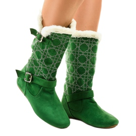 Zelene čizme napola tele R100 zelena