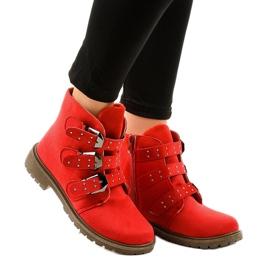 Crvene antilop čizme s kopčama TL95-4 crvena