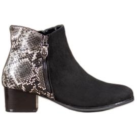 Kylie Crni čizme Snake Print crna