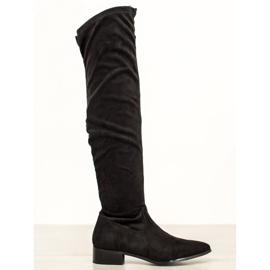 Seastar Ležerne čizme preko koljena crna