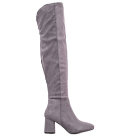 Seastar Elegantne visoke čizme siva