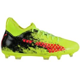 Puma Future 18.3 Fg Ag Jr 104332 01 nogometne čizme zelena crno, crveno, zeleno