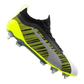 Nogometne čizme Puma One 5.1 Mx Sg Fg M 105615-02 bijela, crna, žuta šaren