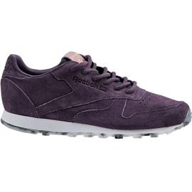 Cipele Reebok Classic Leather Shimmer W BD1520 purpurna boja