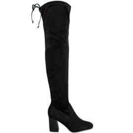Filippo Elegantne čizme preko koljena crna
