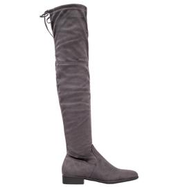 SHELOVET Sive čizme preko koljena siva