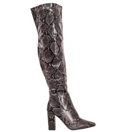 Seastar Čizme preko koljena Print Snake
