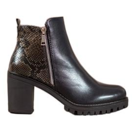 Seastar Čizme na platformi Snake Print crna