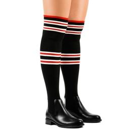 Čarape s crnim bedrima FD-69 crna