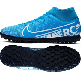 Nogometne cipele Nike Mercurial Superfly 7 Club M Tf AT7980 414 crna crna, siva / srebrna