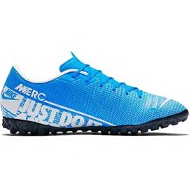 Nike Mercurial Vapor 13 Academy M Tf AT7996 414 tenisice za nogomet plava bijelo, plavo