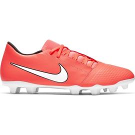 Nike Phantom Venom Club Fg M AO0577 810 nogometne cipele bijela, narančasta narančasta