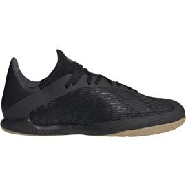Adidas X 19.3 In M F35369 nogometne cipele crna crna