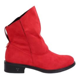 Čizme sa okruglim gornjim dijelovima crvene 6672 Crvene crvena