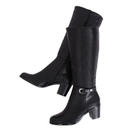 Klasične crne čizme s visokom petom BM-9090 crne crna