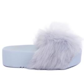 Sivi papuče s krzno sivim CK77P Siva II kvaliteta